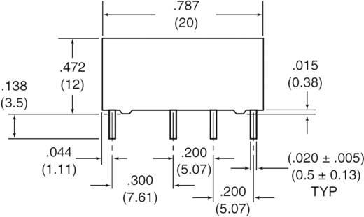 Zettler Electronics AZ822-2C-24DSE Printrelais 24 V/DC 2 A 2x wisselaar 1 stuks