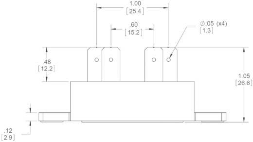 Crydom EZ240D18S Halfgeleiderrelais 1 stuks Laadstroom (max.): 18 A Schakelspanning (max.): 280 V/AC Schakelend bij over