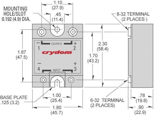 Crydom LVD75B100 Halfgeleiderrelais 1 stuks Laadstroom (max.): 100 A Schakelspanning (max.): 75 V/DC