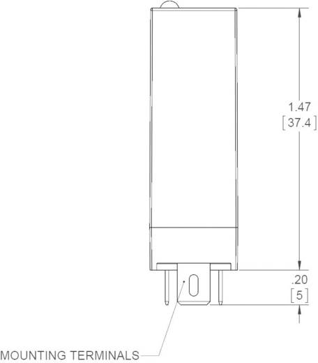 Crydom ED24C5R Halfgeleiderrelais 1 stuks Laadstroom (max.): 5 A Schakelspanning (max.): 280 V/AC Direct schakelend