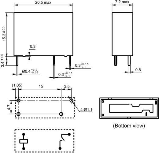Hongfa HF46F-G/024-HS1 Printrelais 24 V/DC 10 A 1x NO 1 stuks