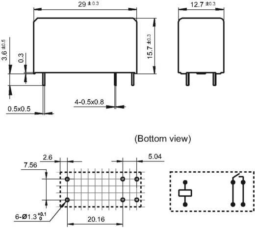 Hongfa HF115F-S/012-HSF Printrelais 12 V/DC 16 A 1x NO 1 stuks