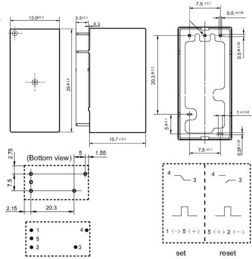 Hongfa HFE20-1/012-1HD-L2 Printrelais 12 V/DC 20 A 1x NO 1 stuks