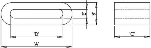 Ferrietkern, plat 90 Ω (l x b x h) 33.5 x 12 x 6.5 mm Richco RFS2-21-12 1 stuks