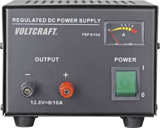 VOLTCRAFT FSP-1138 Labvoeding, vaste spanning 13.8 V/DC 8 A 110 W Aantal uitgangen 1 x