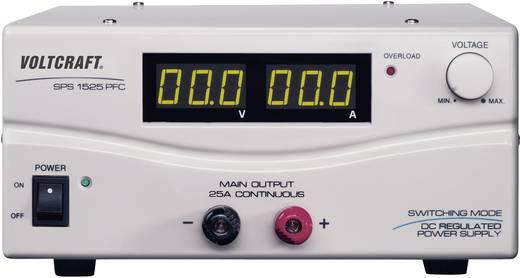 VOLTCRAFT SPS 1525 PFC Labvoeding, regelbaar 3 - 15 V/DC 2 - 25 A 375 W Remote Aantal uitgangen 1 x