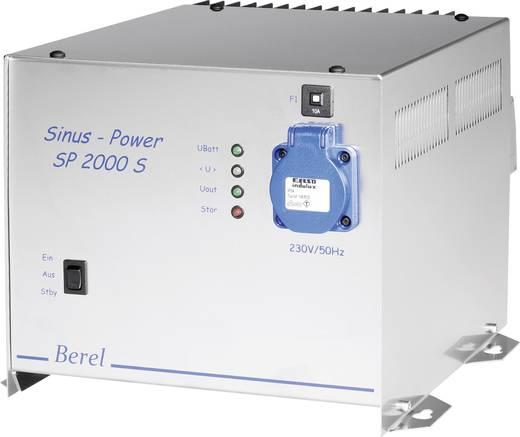 Berel SP2000/12/TI Omvormer 2000 W 12 V/DC 12 V= (10.5 - 15.5 V=) Afstandbedienbaar Schroefklemmen Randaarde contactdoos