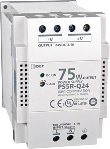 Idec PS5R-Q24 Din-rail netvoeding 24 V/DC 3.1 A 75 W 1 x