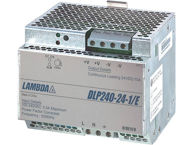 TDK-Lambda DLP-240-24-1/E DIN-rail netvoeding 24 V/DC 10 A 240 W 1 x
