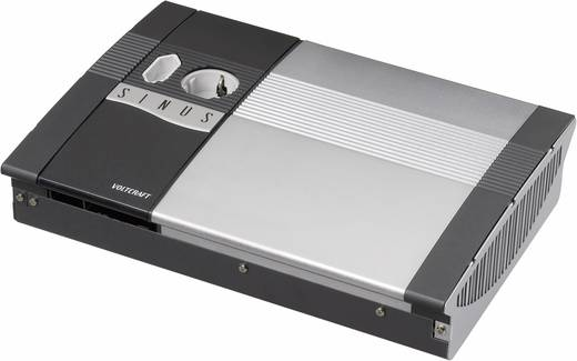VOLTCRAFT SW-600 24V Omvormer 600 W 24 V/DC 24 V= Afstandbedienbaar Schroefklemmen 1x Euro-contactdoos, Geaarde stekkerdoos