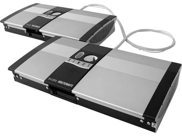 Omvormer VOLTCRAFT SW-4000 12V 4000 W 12 V-DC 12 V= Afstandbedienbaar Schroefklemmen Geaarde contact