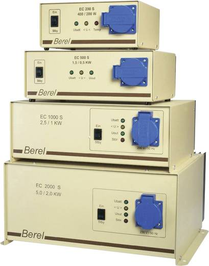 Berel EC1000S/12/TI Omvormer 1000 W 12 V/DC 12 V= (10.5 - 15.5 V=) Zonder ventilatie Schroefklemmen Geaarde stekkerdoos