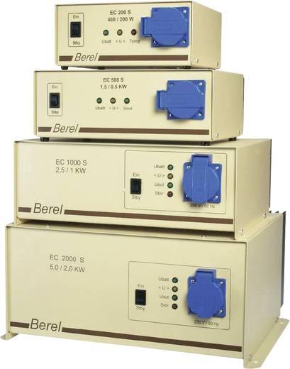 Berel EC500S/12/TI Omvormer 500 W 12 V/DC 12 V= (10.5 - 15.5 V=) Zonder ventilatie Schroefklemmen Randaarde contactdoos