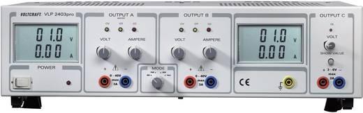 Labvoeding, regelbaar VOLTCRAFT VLP 2403pro 0 - 40 V/DC 0 - 3 A 252 W Aantal uitgangen 3 x