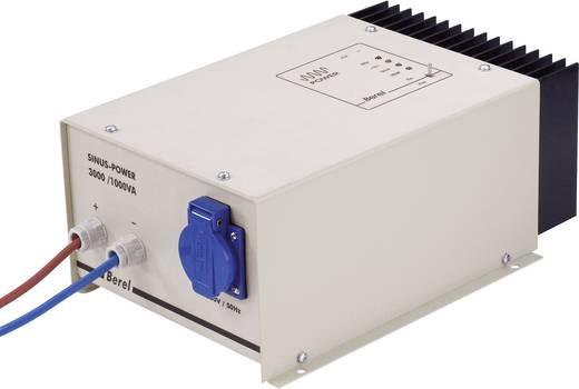 Berel SP1000/12/TI Omvormer 1000 W 12 V/DC 12 V= (10.5 - 15.5 V=) Kabel met open einde Randaarde contactdoos