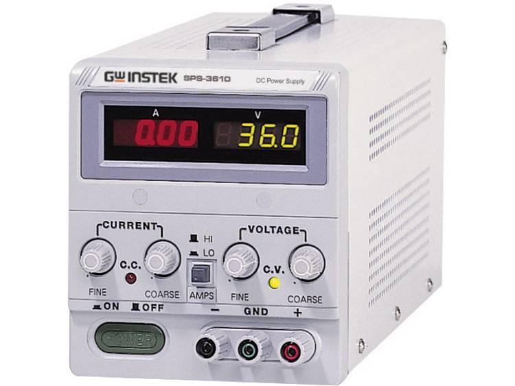 GW Instek SPS 606 Labvoeding regelbaar 0 60 V DC 0 6 A 360 W Aantal uitgang