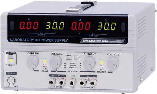 GW Instek GPS-2303 Labvoeding, regelbaar 0 - 30 V/DC 0 - 3 A 180 W Aantal uitgangen 2 x