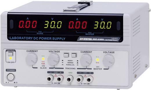 Labvoeding, regelbaar GW Instek GPS-2303 0 - 30 V/DC 0 - 3 A 180 W Aantal uitgangen 2 x
