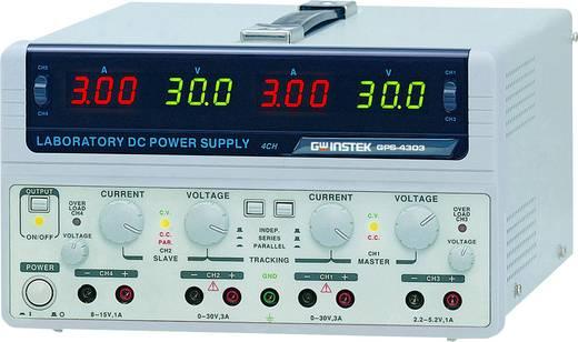 GW Instek GPS-4303 Labvoeding, regelbaar 0 - 30 V/DC 0 - 3 A 200 W Aantal uitgangen 4 x