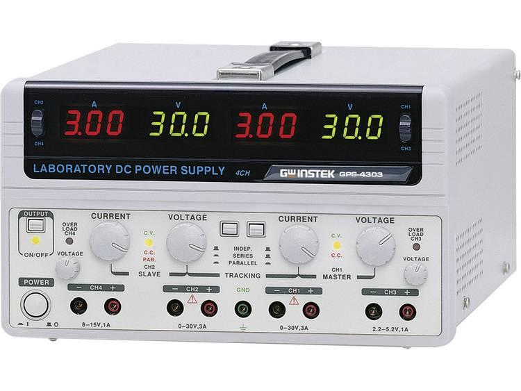 Labvoeding regelbaar GW Instek GPS 4303 E 0 30 V DC 0 3 A 200 W Aantal uitg