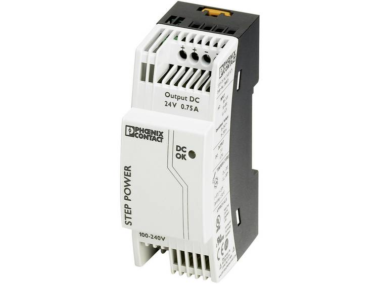 Phoenix Contact STEP PS 1AC 24DC 0.75 Din rail netvoeding 24 V DC 0.83 A 18 W 1