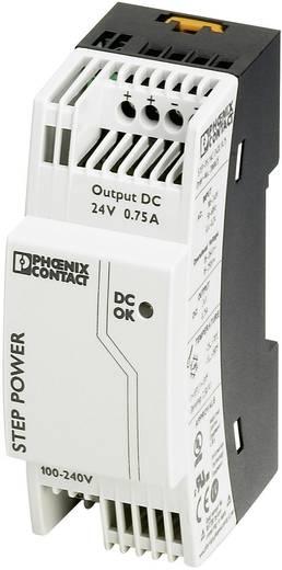 Phoenix Contact STEP-PS/1AC/24DC/0.75 Din-rail netvoeding 24 V/DC 0.83 A 18 W 1 x