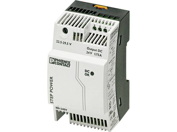 Phoenix Contact STEP PS 1AC 24DC 1.75 Din rail netvoeding 24 V DC 1.9 A 42 W 1 x