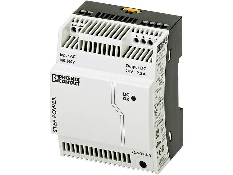 Phoenix Contact STEP PS 1AC 24DC 2.5 Din rail netvoeding 24 V DC 2.75 A 60 W 1 x
