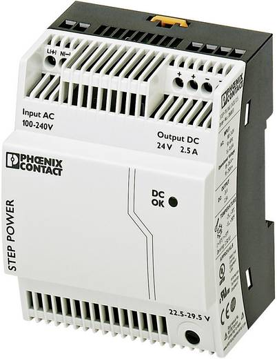 Phoenix Contact STEP-PS/1AC/24DC/2.5 Din-rail netvoeding 24 V/DC 2.75 A 60 W 1 x