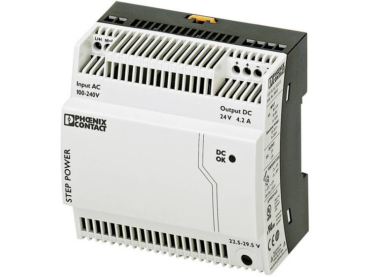 Phoenix Contact STEP PS 1AC 24DC 4.2 Din rail netvoeding 24 V DC 4.4 A 100 W 1 x