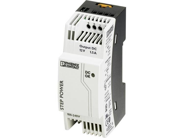Phoenix Contact STEP PS 1AC 12DC 1.5 Din rail netvoeding 12 V DC 1.65 A 18 W 1 x