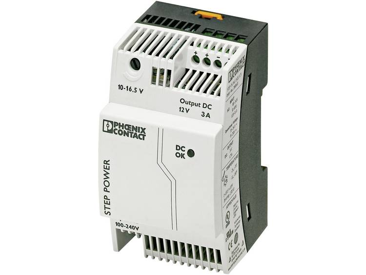 Phoenix Contact STEP PS 1AC 12DC 3 Din rail netvoeding 12 V DC 3.3 A 36 W 1 x
