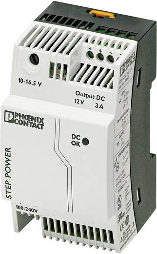 Phoenix Contact STEP-PS/1AC/12DC/3 Din-rail netvoeding 12 V/DC 3.3 A 36 W 1 x