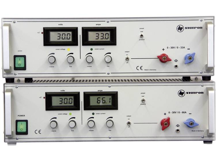 Statron 3654.1 Labvoeding regelbaar 0 30 V DC 0 33 A 990 W Aantal uitgangen