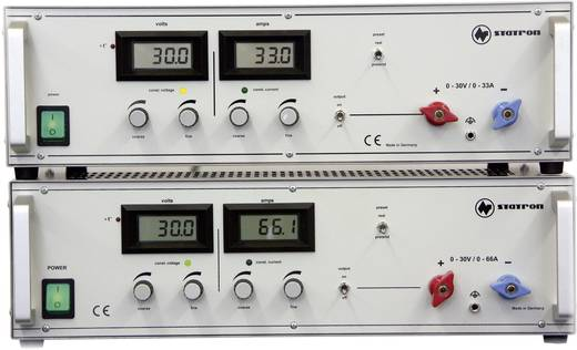 Statron 3654.1 Labvoeding, regelbaar 0 - 30 V/DC 0 - 33 A 990 W Aantal uitgangen 1 x