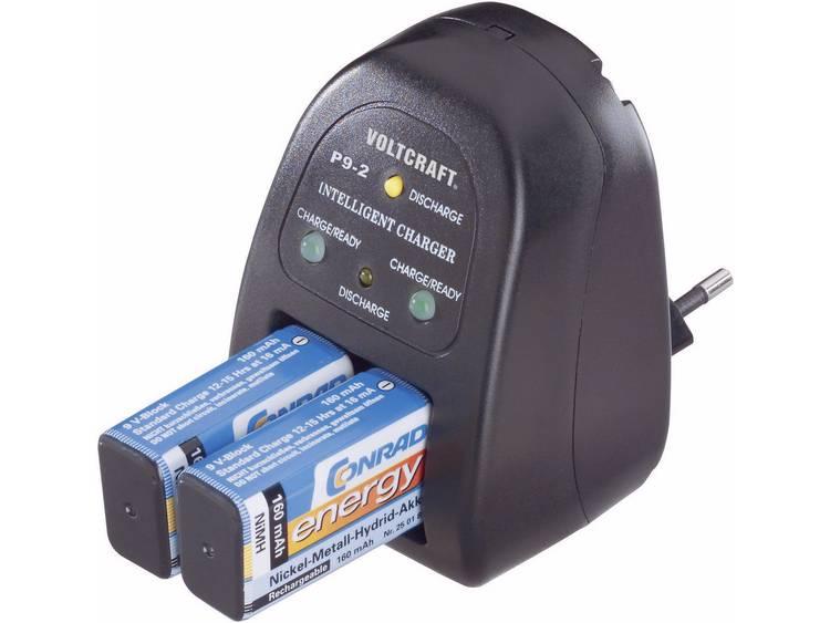 VOLTCRAFT 9 V blok stekkerlader P9-2 200092 P9-2