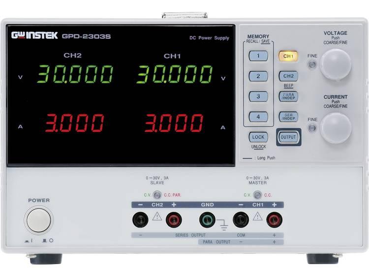 GW Instek GPD 3303S Labvoeding regelbaar 0 30 V DC 1 3 A 195 W USB Aantal u