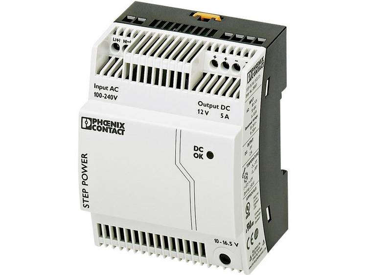 Phoenix Contact STEP PS 1AC 12DC 5 Din rail netvoeding 12 V DC 5 A 60 W 1 x
