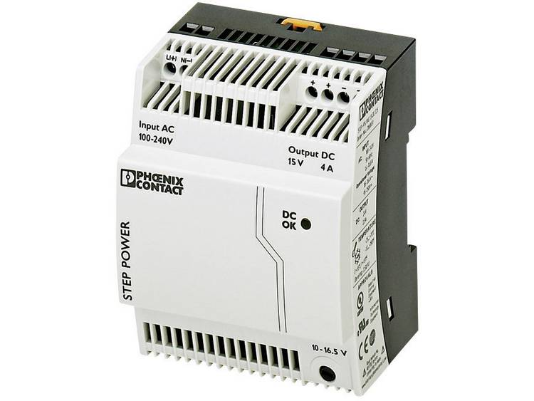 Phoenix Contact STEP PS 1AC 15DC 4 Din rail netvoeding 15 V DC 4 A 60 W 1 x