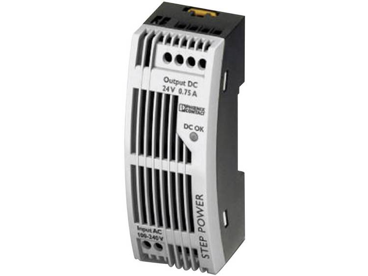 Phoenix Contact STEP PS 1AC 12DC 1.5 FL Din rail netvoeding 12 V DC 1.65 A 18 W