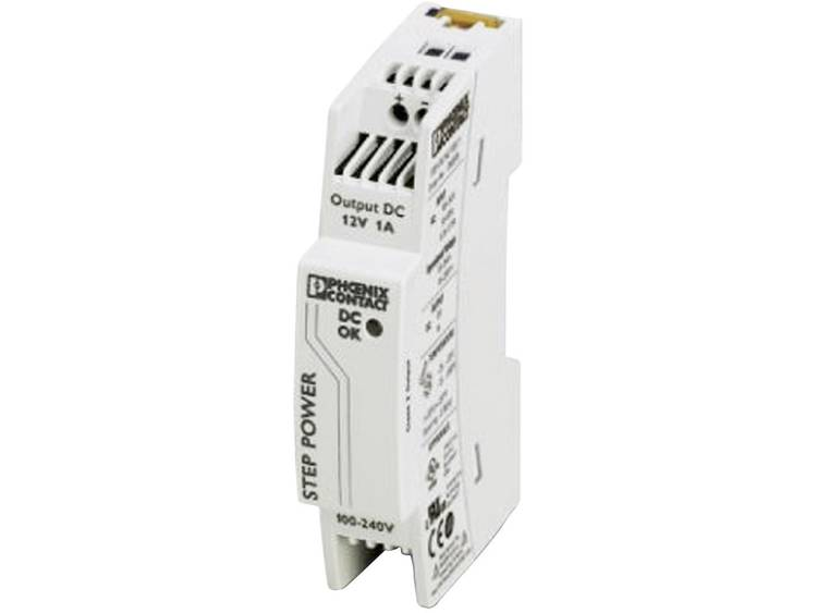 Phoenix Contact STEP PS 1AC 12DC 1 Din rail netvoeding 12 V DC 1.1 A 12 W 1 x