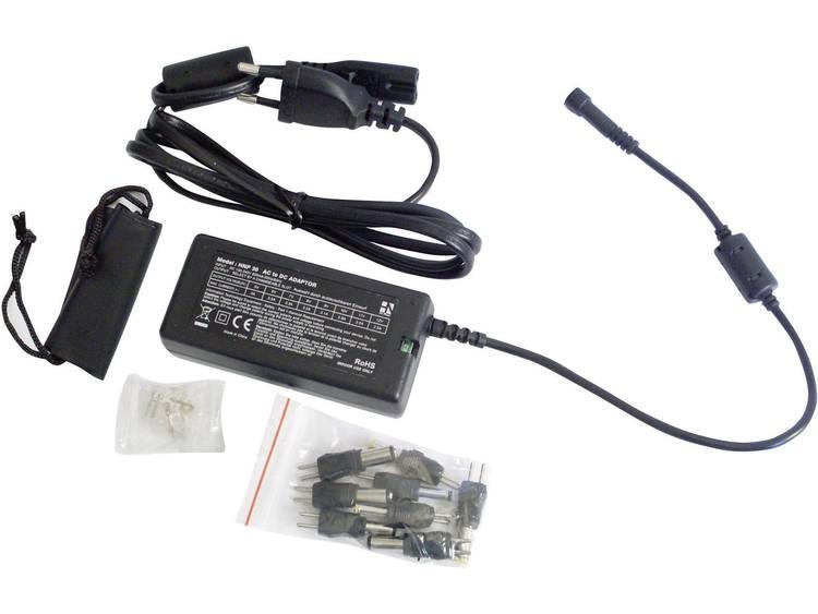 HN Power HNP30-Uni Tafelnetvoeding, instelbaar 5 V-DC, 6 V-DC, 7.5 V-DC, 9 V-DC, 12 V-DC