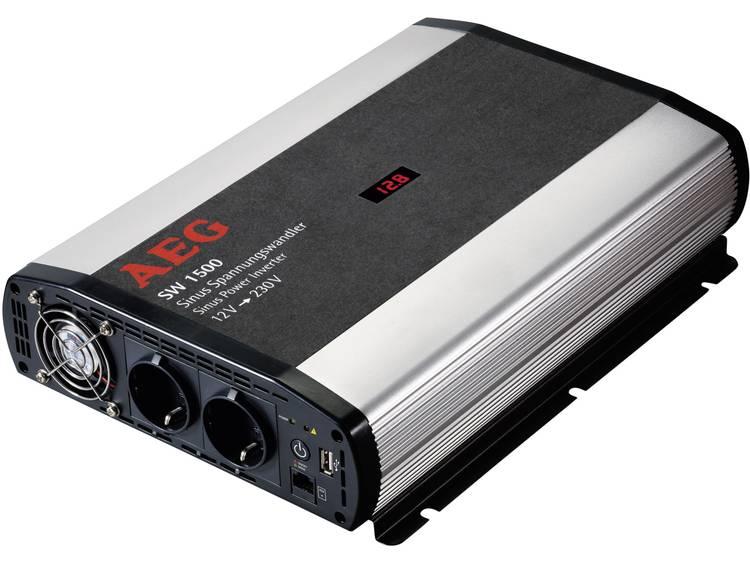 Omvormer AEG SW 1500 1500 W 12 V-DC 12 V-DC (10,5 12,0 V-DC) incl. afstandsbediening Schroefklemmen