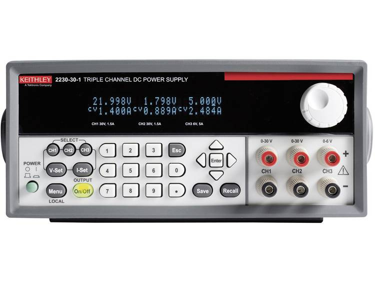 Keithley 2230 30 1 Labvoeding regelbaar 0 30 V DC 0 1.5 A 120 W Aantal uitg