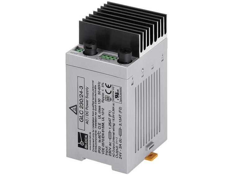 Block GLC 230 24 3 AC DC inbouwnetvoeding 24 V DC 3 A 72 W
