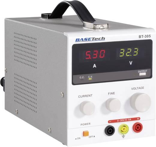 Labvoeding, regelbaar Basetech BT-305 0 - 30 V/DC 0 - 5 A 150 W Aantal uitgangen 1 x