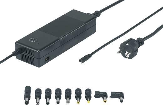 Laptop netvoeding VOLTCRAFT NPS-150 USB 146 W 12 V/DC, 14 V/DC, 16 V/DC, 18 V/DC, 18.5 V/DC, 19 V/DC, 19.5 V/DC, 20 V/DC