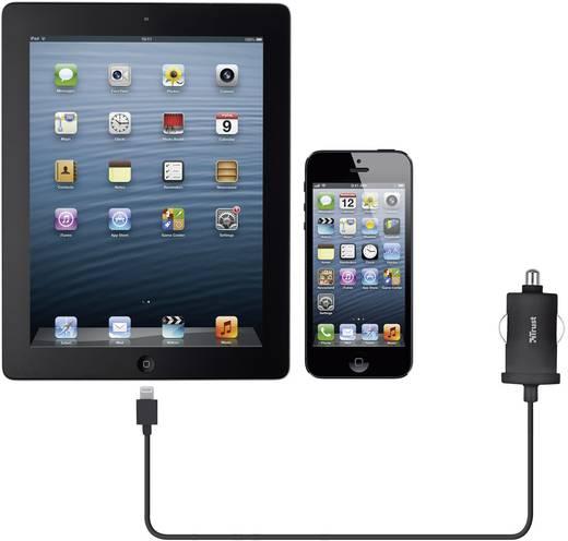 iPad/iPhone/iPod oplader Trust 19163 (Autolader) Uitgangsstroom (max.) 1000 mA 1 x Apple dock-stekker Lightning