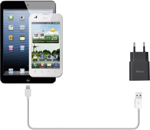 Trust 19160 USB-oplader (Thuislader) Uitgangsstroom (max.) 1000 mA 1 x USB