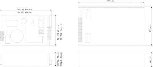 TracoPower TXH 360-124 AC/DC inbouwnetvoeding 24 V/DC 15 A 360 W